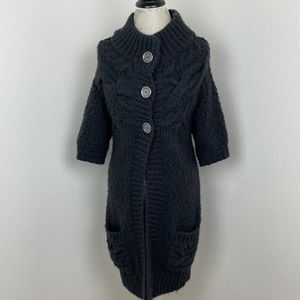 Free people cozy large button wool cardigan